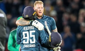 Ben Stokes on his way to 71 not out at Trent Bridge as England beat Pakistan in the fourth one-day international.