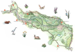 Vale of Llangollen illustrated map