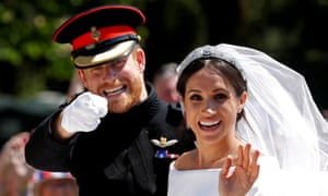 Prince Harry and Meghan Meghan after their wedding ceremony, May 2018.