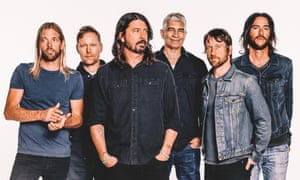 'Power with tunes, good times with gravitas': Foo Fighters featuring Dave Grohl (centre).