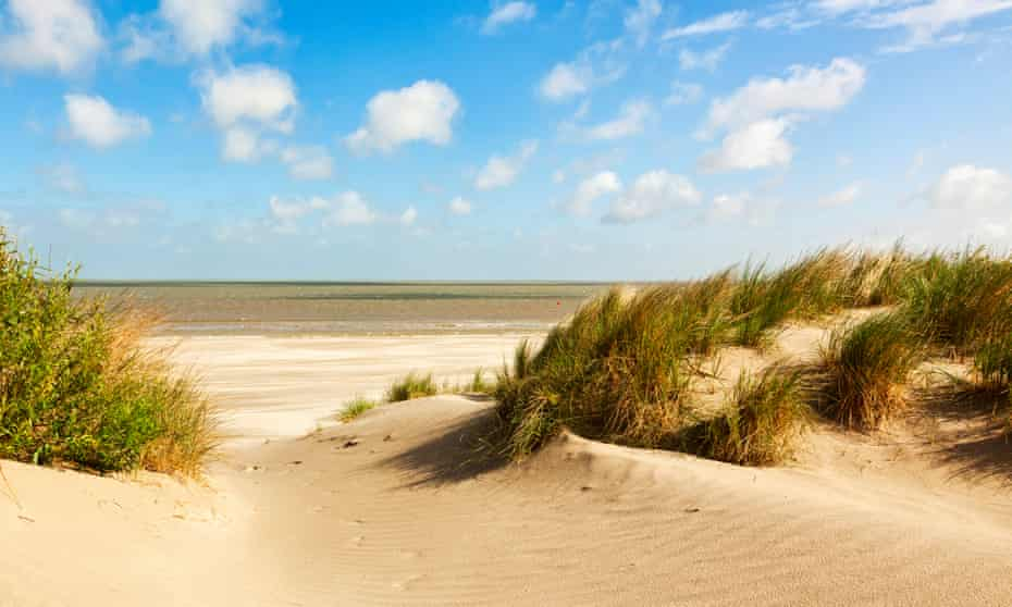 the beach and dunes at Knokke-Heist, Belgium.