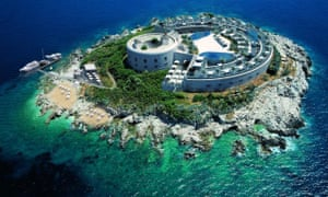 A 3D model of the planned hotel, set to include a dancefloor, spa and marina jetty.