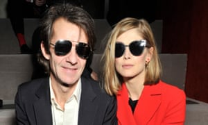 Christian Dior show, Autumn Winter 2016, Paris Fashion Week, France - 04 Mar 2016Mandatory Credit: Photo by Swan Gallet/WWD/REX/Shutterstock (5609497h) Rosamund Pike and Robie Uniacke in the front row Christian Dior show, Autumn Winter 2016, Paris Fashion Week, France - 04 Mar 2016