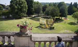 Evergreen … a floral display in the Parade Gardens in Bath to mark the bicentenary of Jane Austen's death on 18 July 2017.