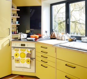 The Formica kitchen.