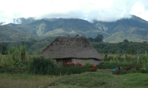 A traditional thatched house in Papua New Guinea's highlands.