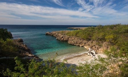 A secluded cove at Rio Guanayara, on Cuba's Caribbean coast.