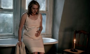 All white on the night ... Elisabeth Moss as June (or is it Offred?) in The Handmaid's Tale.