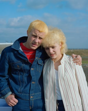 Couple on Day Trip, Washington Services, Tyne and Wear, May 1982