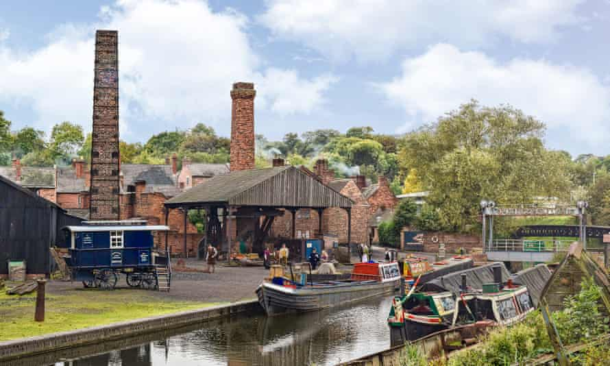 The boat dock at the Black Country Living Museum.