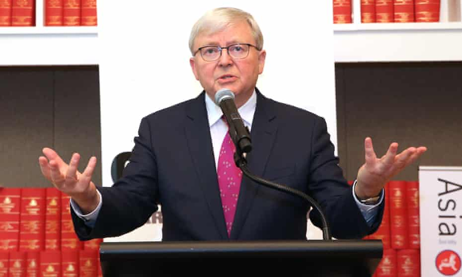 Kevin Rudd launches Peter Hartcher's Quarterly Essay at Parliament House