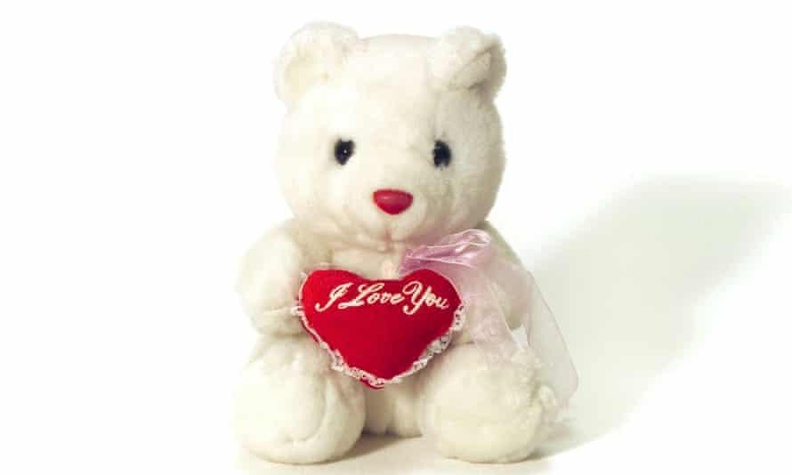 An 'I love you' teddy bear.