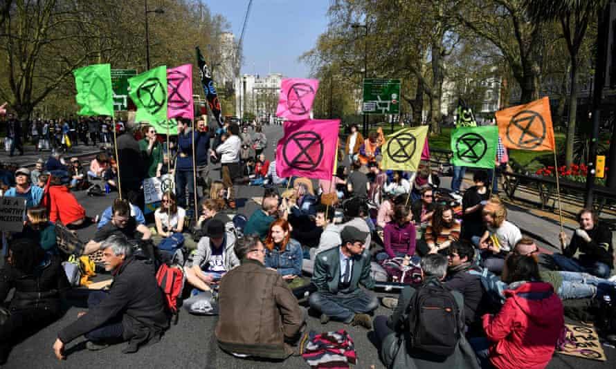 An Extinction Rebellion demonstration in London last year.