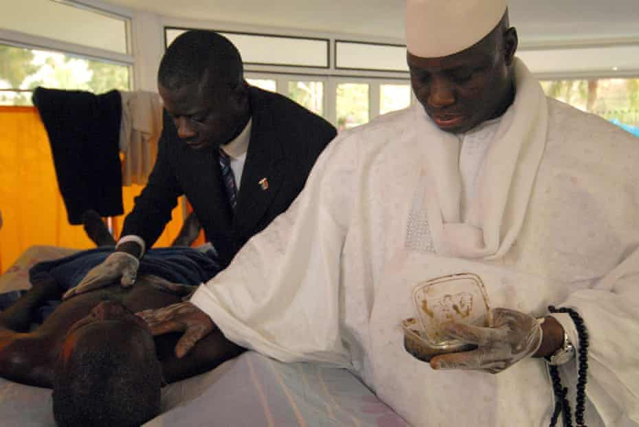 Yahya Jammeh administers his Aids 'cure' to Lamin Ceesay