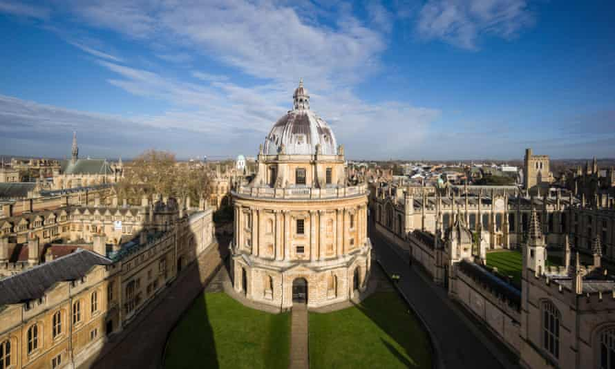 View of Radcliffe Camera, Radcliffe Square with Brasenose College on the left, and All Souls College, right. D