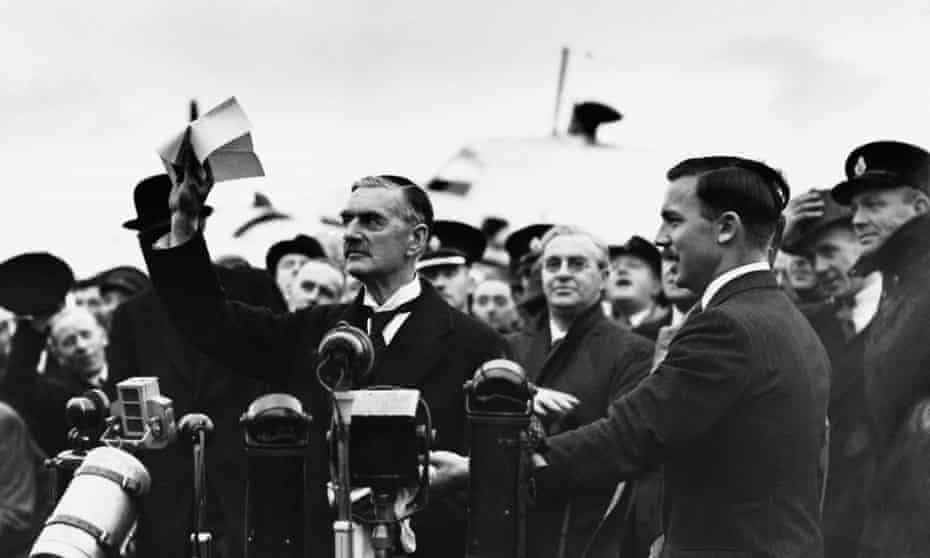 Optimistic Neville Chamberlain.