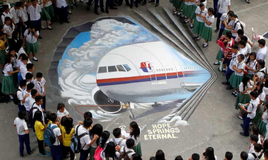 An MH370 artwork in a Malaysian school