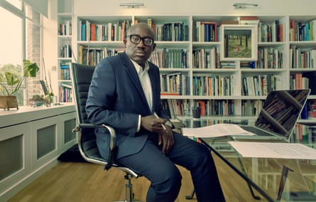 Edward Enninful, editor-in-chief of British Vogue,  photographed at his desk in London, July 2019