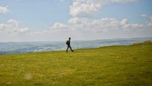 Horatio Clare walks in Hay
