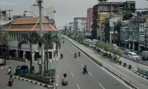 Jalan Pintu Besar Selatan in the Chinatown of Glodok in West Jakarta, Indonesia.