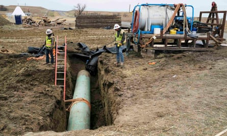 Native American activists warned that a permit delay was only temporary and that Donald Trump would seek to quickly advance the $3.8bn pipeline.