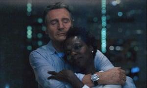 Grief … Viola Davis and Liam Neeson in Widows.
