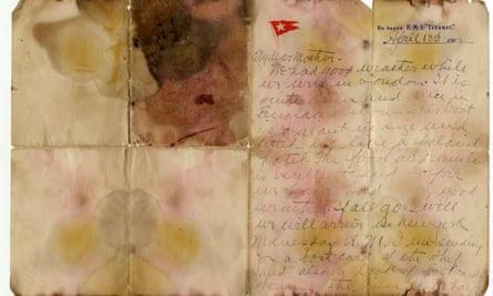 Water-damaged letter
