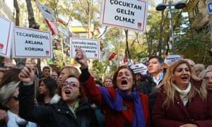 Turkish women protest in Ankara last weekend