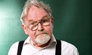 Alasdair Gray seen before speaking at the Edinburgh international book festival, 2011.