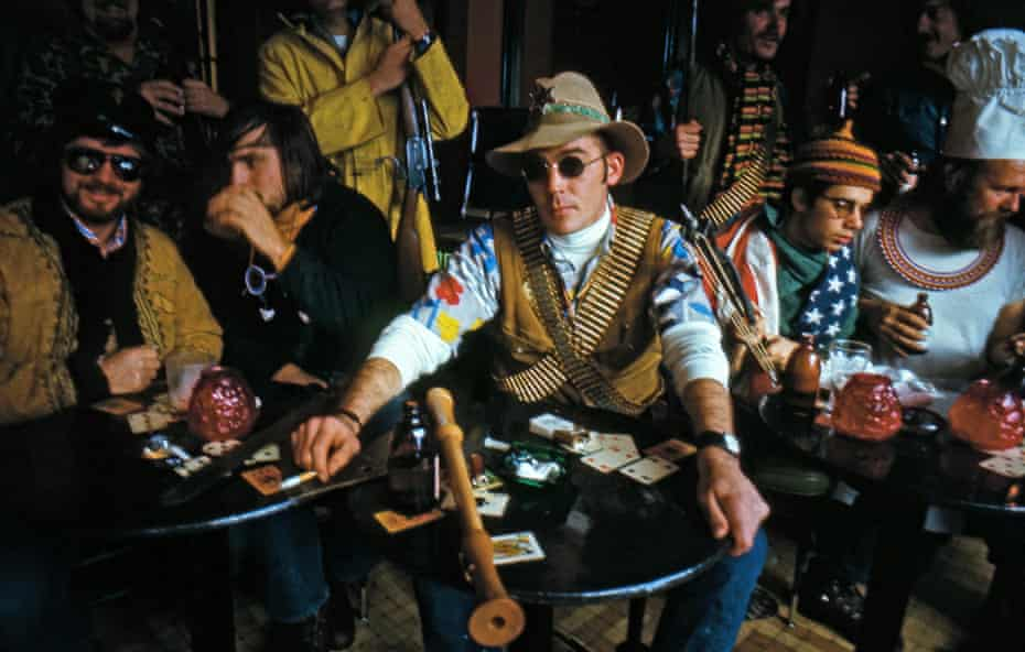 A still from the documentary film Gonzo; The Life and Work of Dr Hunter S Thompson