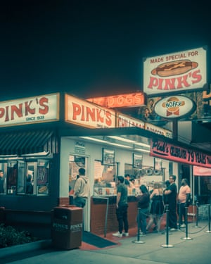 Pink's  in Los Angeles by photographer Franck Bohbot.