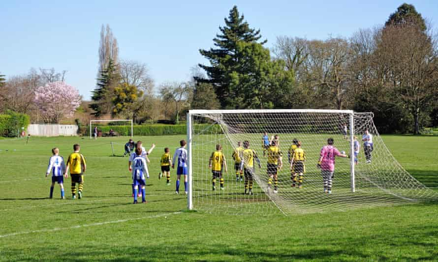 Boys' football match.