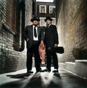 Giorgio Locatelli and Antonio Carluccio, photographed for the Observer Food Monthly magazine in 2004