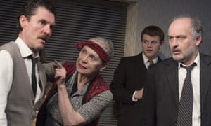 Dorian Lough as Leo, Sara Kestelman as Yetta and Louis Hilyer as Nat in Filthy Business.