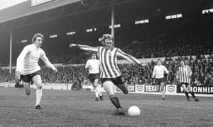 Tony Currie leaves Neil Warnock behind while playing for Sheffield United against Tottenham in 1973.