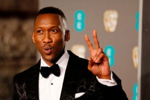 Peace up … Mahershala Ali before his best supporting actor win for Green Book