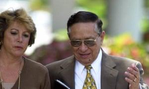 José Guillermo García-Merino, seen in 2000, was flown on a chartered plane from the US to San Salvador, El Salvador.