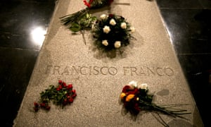 Flowers placed on the tomb of Francisco Franco