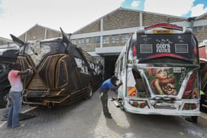 Designers work on matatus