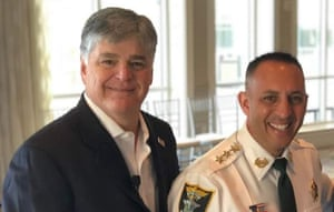 Sean Hannity with Sheriff Carmine Marceno, whose actions have dismayed some fellow Republicans.