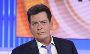 Charlie Sheen on the Today Show in the US, when he announced he was HIV positive.