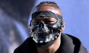 Deontay Wilder cut a mean-looking figure at the weigh in on Friday in Los Angeles.