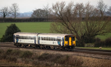 A Northern train at Colton Junction in North Yorkshire