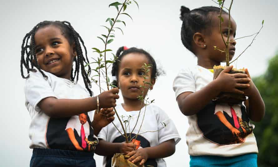 Ethiopia launched a national tree planting drive