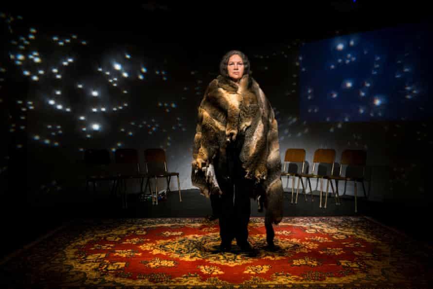 Aunty Rhonda Dixon-Grovenor, in Tribunal, an interactive performance piece held at the MCA