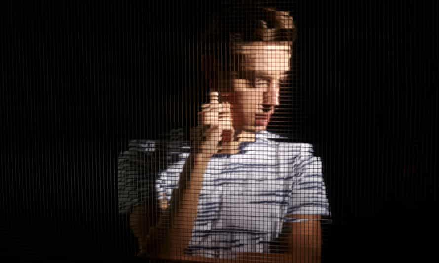 Pixellated image of a young man