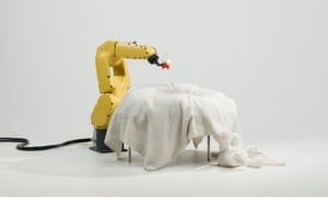 The Baby Feeder, 2016, by Stephan Bogner, Philipp Schmitt and Jonas Voigt, explores where we draw the line of just how much automation we consider desirable.