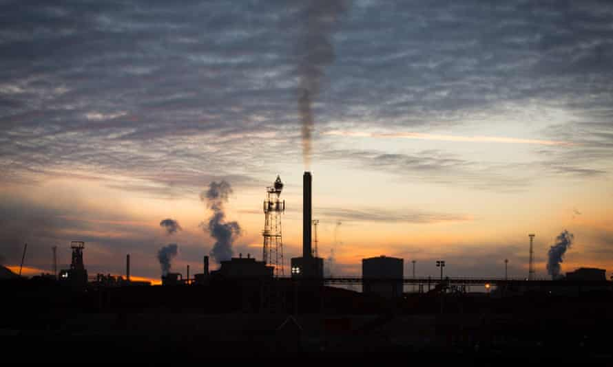 The Tata steelworks in Port Talbot, Wales,