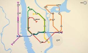 'Hugely complex and addictive': Mini Metro.