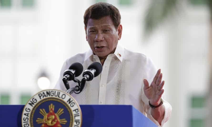 Philippine president Rodrigo Duterte on 12 June, 2021.